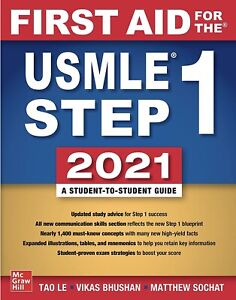 First Aid for the USMLE Step 1; 2021 edition FREE SHIPPING