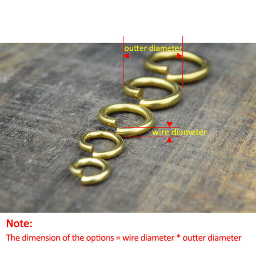 Brass Open Jump O Ring Round Ring Jewelry Findings Links Repair Connectors 2-5mm