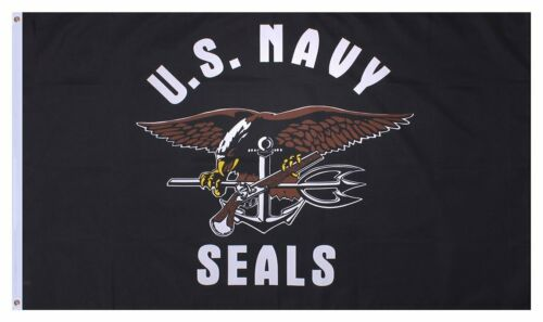 135  DRAPEAU  US NAVY SEALS USA MARINE    90X150 NEUF AVEC OEILLET DE FIXATION