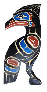 BC-First-Nations-Native-Canada-Art-STELLARS-JAY-Carving-Plaque-Northwest-Coast