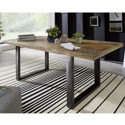 Esstisch Mangoholz lackiert Esszimmer Tisch rustikal Eisen anthrazit 180x90 cm | eBay