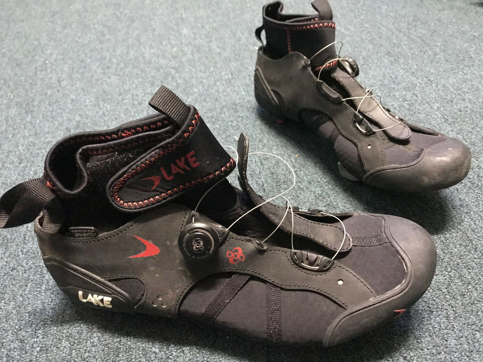 LAKE EVENT WATERPROOF CYCLING   ROAD BIKE CLEATS   SHOES MENS sz 13