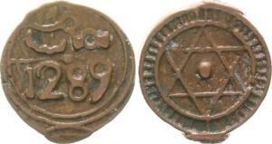 Morocco-4-Falus-1289-1872-Lack-Coinage-Very-Fine-27997