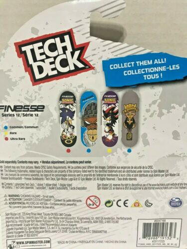 Tech Deck Finesse Skateboards Fingerboards Series 12