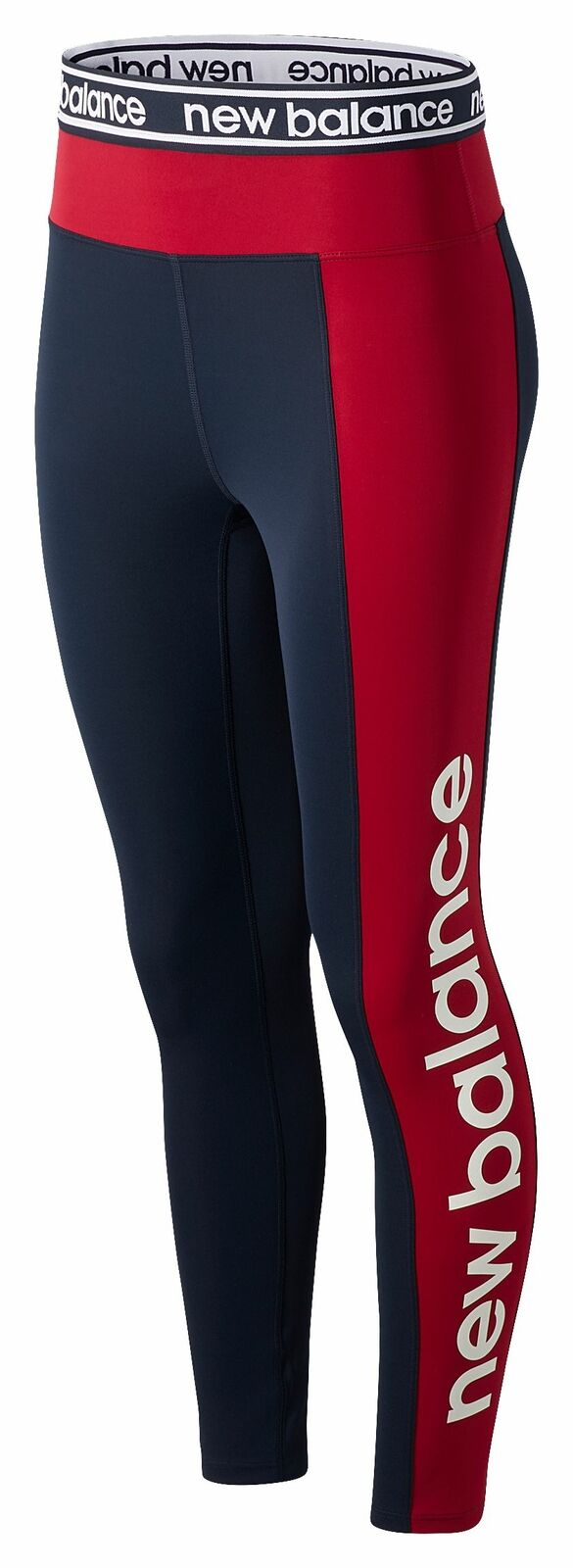 New Balance Women's Relentless Graphic High Rise 7/8 Tight Navy with Red