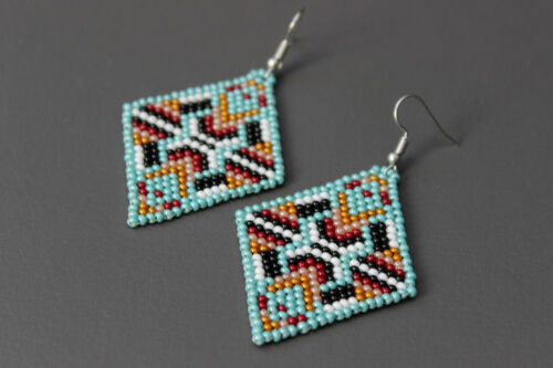 style Beadwork Native Style Boucles d/'oreilles, Native american beaded Boucles d/'oreilles