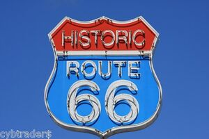 Historic-Route-66-Neon-Sign-Refrigerator-Tool-Box-Magnet