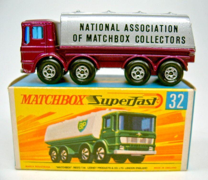 MATCHBOX sf Nº 32a Leyland pétrolier violetmetallic & Argent  NAMC  très rare, top