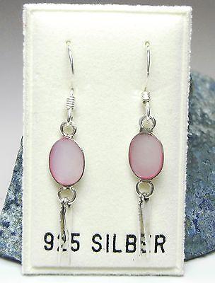 Uhren & Schmuck Neu 925 Silber OhrhÄnger Mit Perlmutt In Hellrosa/rosa Ohrringe
