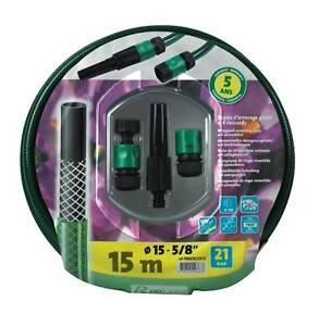 Détails Sur Batterie Tuyau Darrosage Guipe 15 X 15m Prb4tg15v15