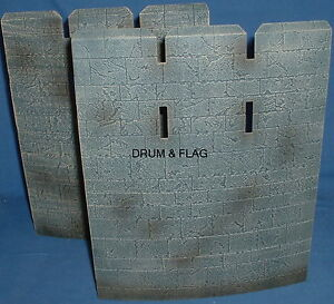 CURVED-CASTLE-WALLS-SPARES-FROM-PLAY-ALONG-HELMS-DEEP-SET-LOTR-AOME-260mm-Tall