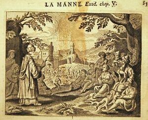 GRAVURE 17è 18è BIBLE DE ROYAUMONT la manne EXODE V O6AngmBk-09161024-183663910