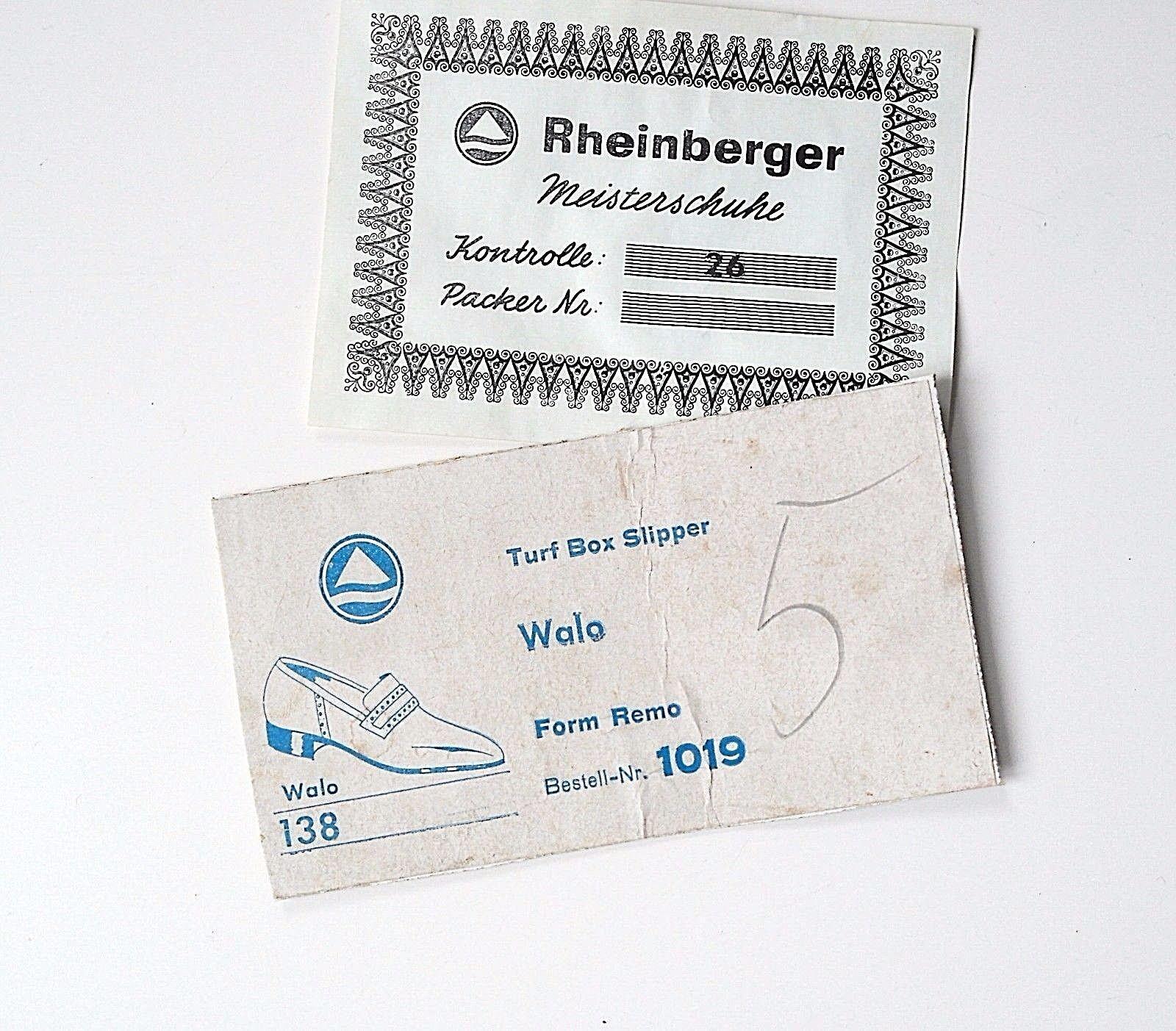 Rheinberger Derby Halbschuhe Schuhe Halbschuhe Derby Slipper Loafer Walo NOS TRUE VINTAGE EUR 38 5b34f0