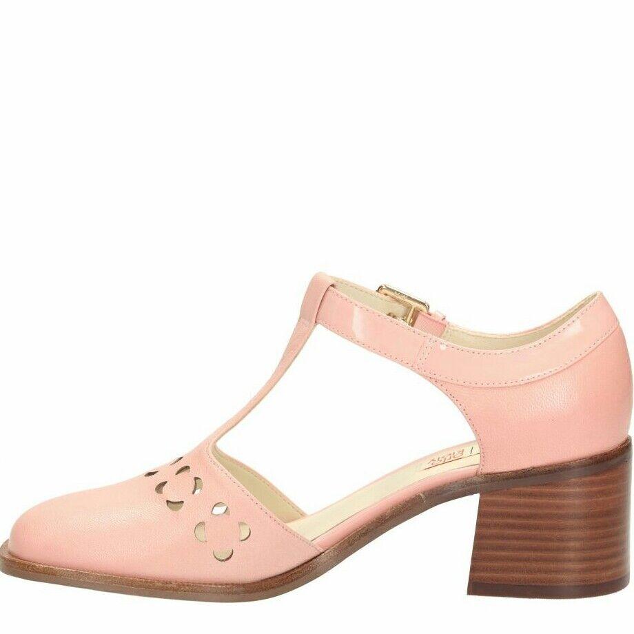Siz 7.5 US 9.5 Orla Kiely Rosa in Pelle BIBI Mary Jane da donna scarpa nuovo Bel Regalo