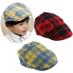 f2edc4ce Prettyia Baby Boy Flat Cap, Cotton Hat Beret Cap for Toddler Baby ...