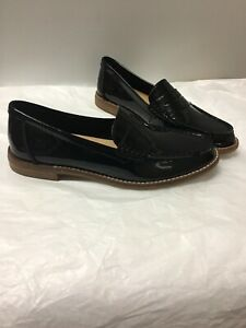 fcb0321366e Image is loading Sperry-Top-Sider-Black-Patent-Leather-Penny-Loafer-