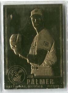 Details About 1996 Danbury Mint Jim Palmer Gold Foil Baseball Card Real Gold Hof Orioles