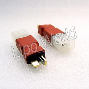 Deans-T-Stecker-auf-Tamiya-Buchse-Hochvoltstecker-Adapter-Lade-Kabel-LiPo-Akku