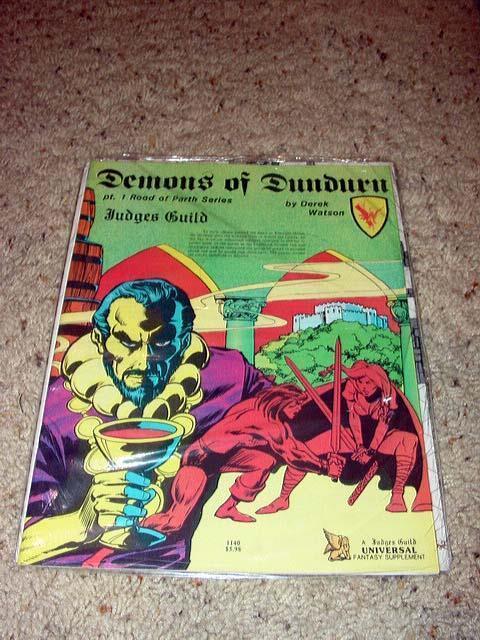 Judges Guild - Demons of Dundurn  SEALED  Vintage TSR D&D Fantasy Supplement
