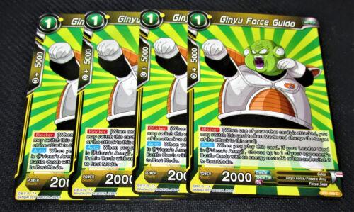 4x Ginyu Force Guldo BT1-099 Common Dragon Ball Super TCG NEAR MINT