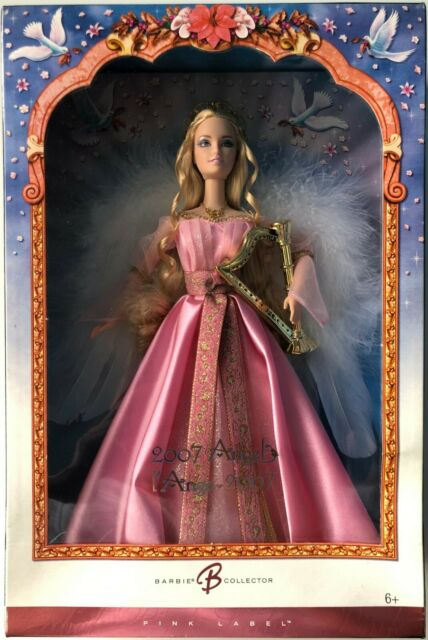 VHTF 2007 Angel L'Ange Pink Label Canadian Holiday Special Edition Barbie Doll *