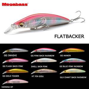 Megabass-FLATBACKER-110mm-22grams-sinking-minnow-lure-plug-flat-fish