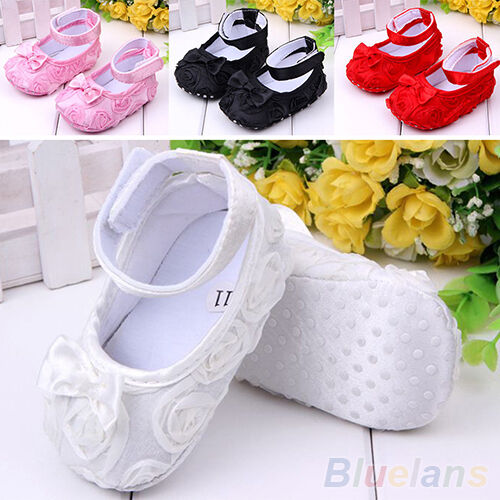 BABY NEWBORN INFANT TODDLER BOWKNOT SOFT PREWALKER CRIB SHOES MARY JANE