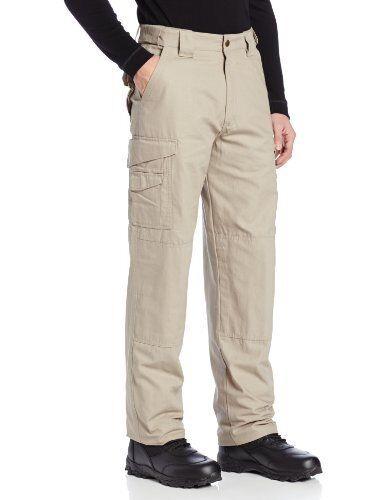 TRU-SPEC Men's Cotton 24-7 Pant, Khaki, 28-Inch Unhemmed