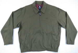 Vintage-Ralph-Lauren-Chaps-Olive-Green-Full-Zip-Harrington-Bomber-Mens-Jacket-L