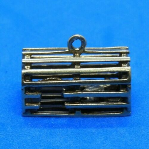 Vintage 14K Yellow Gold Lobster Trap Charm with Lo