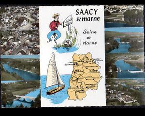 SAACY-sur-MARNE-77-CONTOUR-GEOGRAPHIQUE-amp-vue-aerienne-en-1965