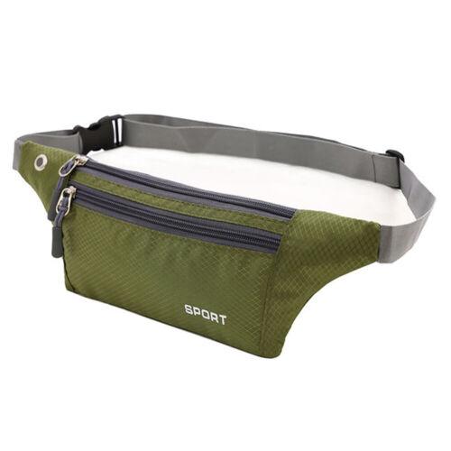 US Women Men Waist Bag Fanny Pack Belt Thin Bag Phone Coin Pouch Sport Jogging