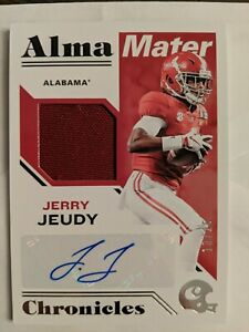 2020-Chronicles-Jerry-Jeudy-Alma-Mater-RPA-SSP-13-25-very-nice-card