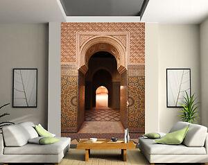 papier peint g ant 2 l s tapisserie murale d co porte orientale r f 148 ebay. Black Bedroom Furniture Sets. Home Design Ideas