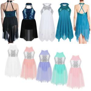 Sequins-Ballet-Dance-Dress-for-Girl-Kid-Leotard-Gymnastics-Skating-Skirt-Costume
