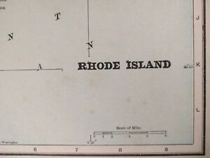 RHODE-ISLAND-1900-Vintage-Atlas-Map-11-034-x14-034-Old-Antique-Original-PROVIDENCE