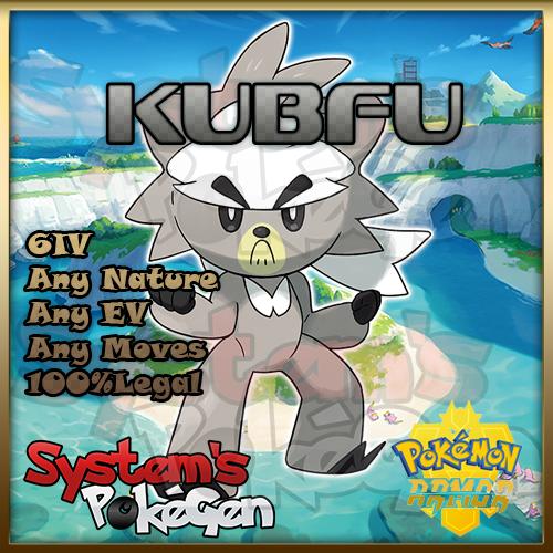 Pokemon Sword/Shield Isle of Armor Kubfu 6IV Any Nature 100% Legal 1