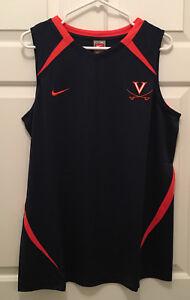 New Virginia UVA Cavaliers Women's Basketball Team Issued Nike Blue Tank Top 2XL