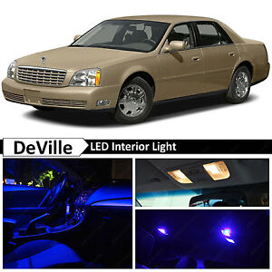 16x blue led lights interior package kit for 2000 2005 cadillac deville ebay details about 16x blue led lights interior package kit for 2000 2005 cadillac deville