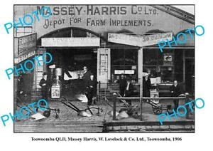 OLD-LARGE-PHOTO-TOOWOOMBA-QUEENSLAND-MASSEY-HARRIS-FARMING-STORE-c1906