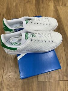 adidas-Stan-Smith-Woven-Sizes-8-9-White-RRP-80-Brand-New-S77267-RARE
