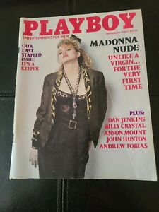 PLAYBOY SEPTEMBER 1985 MADONNA NUDE LAST STAPELED ISSUE