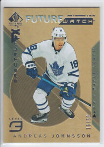 2018-19-UD-SP-AUTHENTIC-ANDREA-JOHNSSON-RC-50-GOLD-BOUNTY-ROOKIE-FW-SPECTRUM-FX