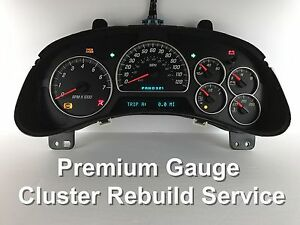 Image Is Loading Chevy Trailblazer Gmc Envoy Sdometer Instrument Gauge Cer