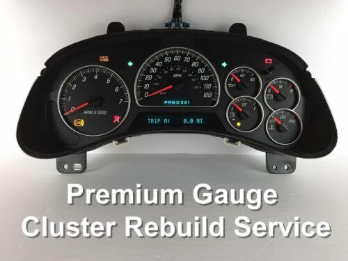 Chevy Trailblazer GMC Envoy Speedometer Instrument Gauge Cluster REPAIR SERVICE