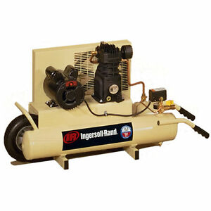 Ingersoll Rand 2 Hp 8 Gallon Electric Dual Voltage