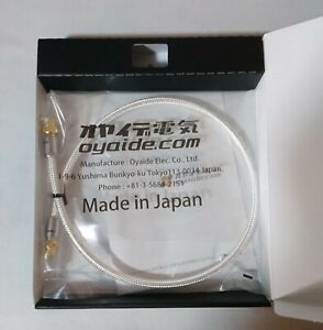 NEW DB-510 0.7m Oyaide BNC Cable High Quality Silver Wire Terminal type male