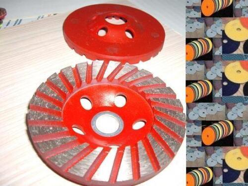 4 inch Coarse Grinding Diamond Turbo Cup Wheel Polishing 15 Pad Granite Concrete
