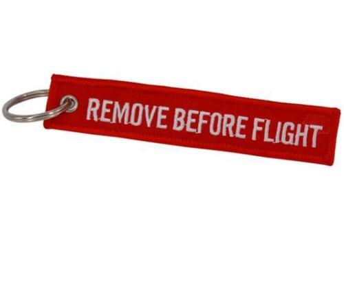 Fabric Key Ring Remove Before Flight Keychain Pilot Bag Crew Tag Luggage Keyring