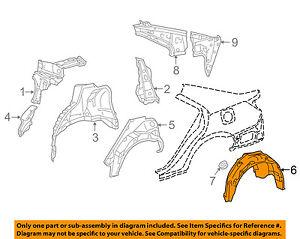 For Mercedes Genuine Fender Splash Shield Left 4638841722